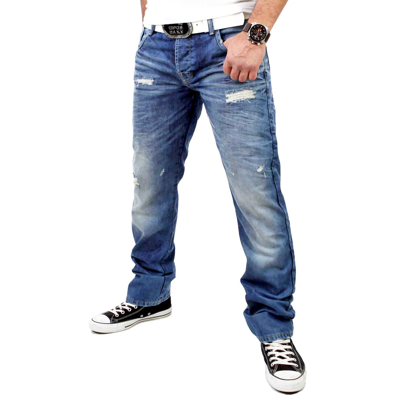 cipo baxx jeans herren destroyed look c 1010 kaufen. Black Bedroom Furniture Sets. Home Design Ideas