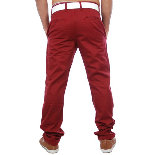Cipo&Baxx C-934 Chino Sommer Stoff Hose Rot