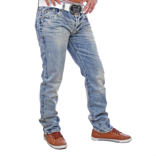 Cipo & Baxx C-963 Exklusive Stone washed Jeans blau