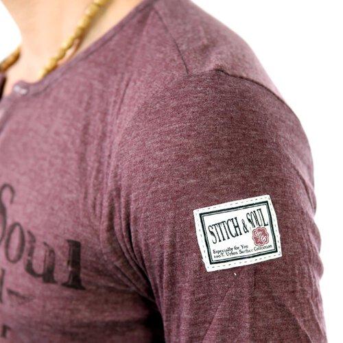 Stich /& Soul Herren V-Neck Longsleeve Langarm Männer T-Shirt SS-20191 SALE