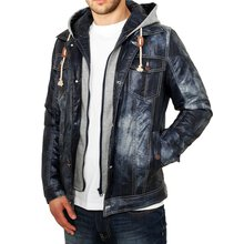 Urban Classics Herren Hooded Denim Look Jacke TB-568...