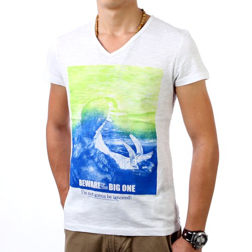 Urban Surface Herren V-Neck Print T-Shirt US-20057