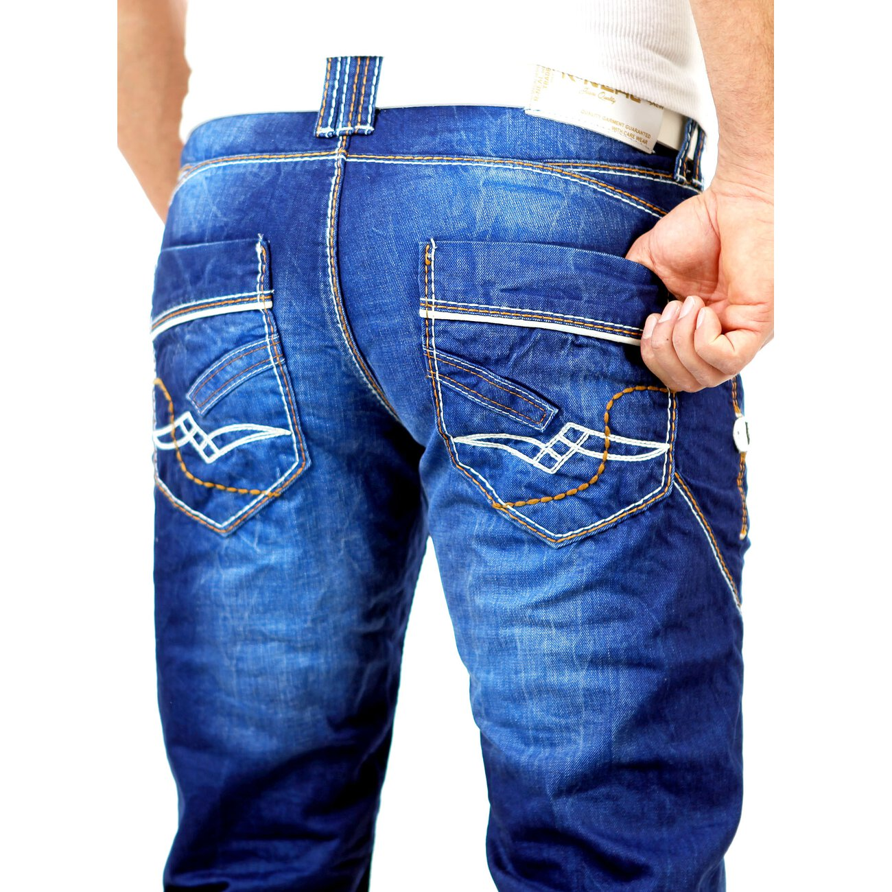 r neal jeans blau used look 8442 25 jeanshosen kaufen. Black Bedroom Furniture Sets. Home Design Ideas