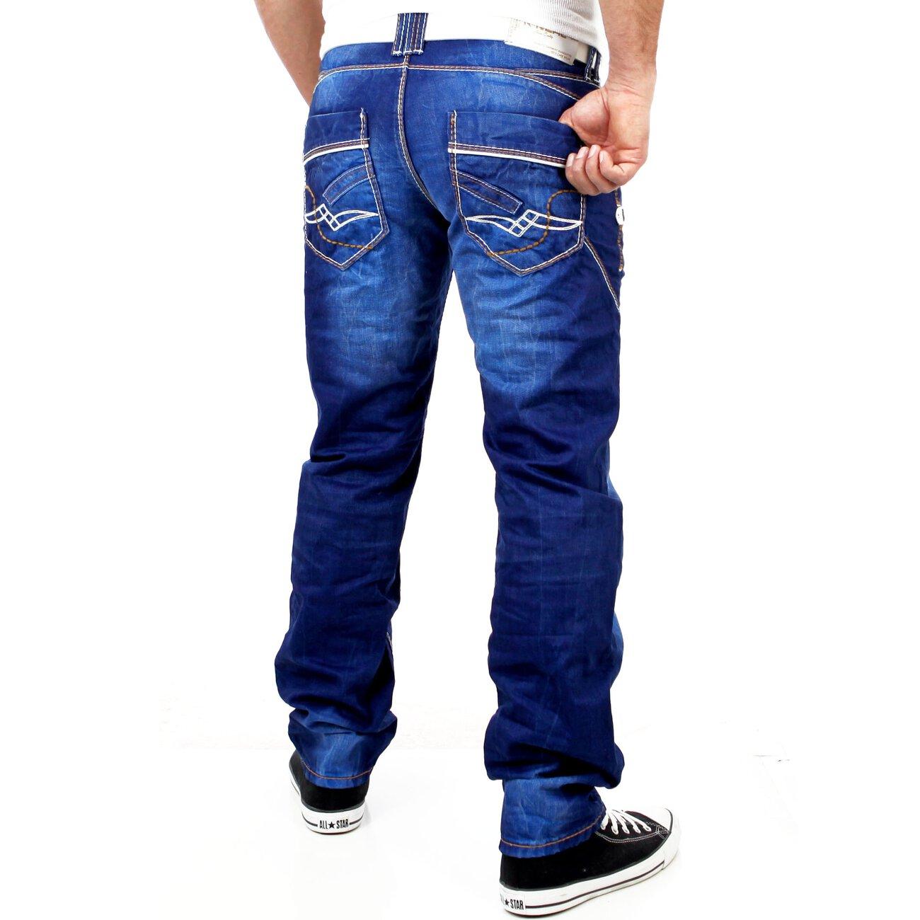 r neal herren used look dicke naht jeans hose rn 8442 25. Black Bedroom Furniture Sets. Home Design Ideas