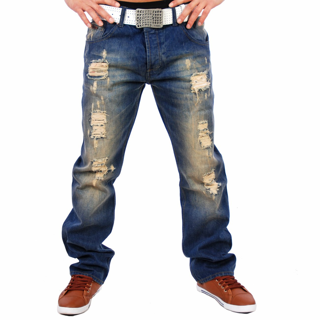 03a1f2f218ae5d Herren Jeans Destroyed Look Tazzio 5066-2