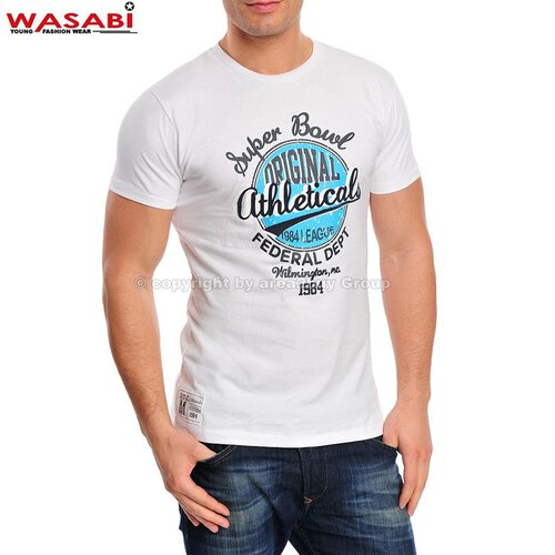 Wasabi athleticals Jonk Men Party Club Style T-shirt weiß