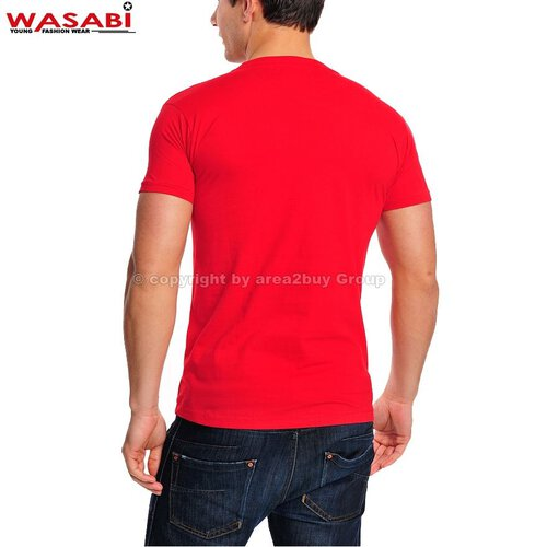 Wasabi athleticals Jonk Men Party Club Style T-shirt rot