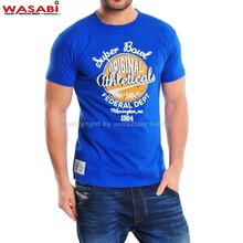 Wasabi athleticals Jonk Men Party Club Style T-shirt blau