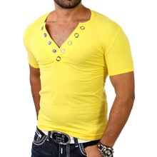 Redbridge Herren V-Neck Big Button T-Shirt RB-1574