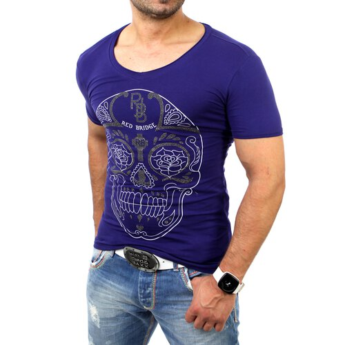 Redbridge Herren Strass Deadhead Print T-Shirt RB-2063