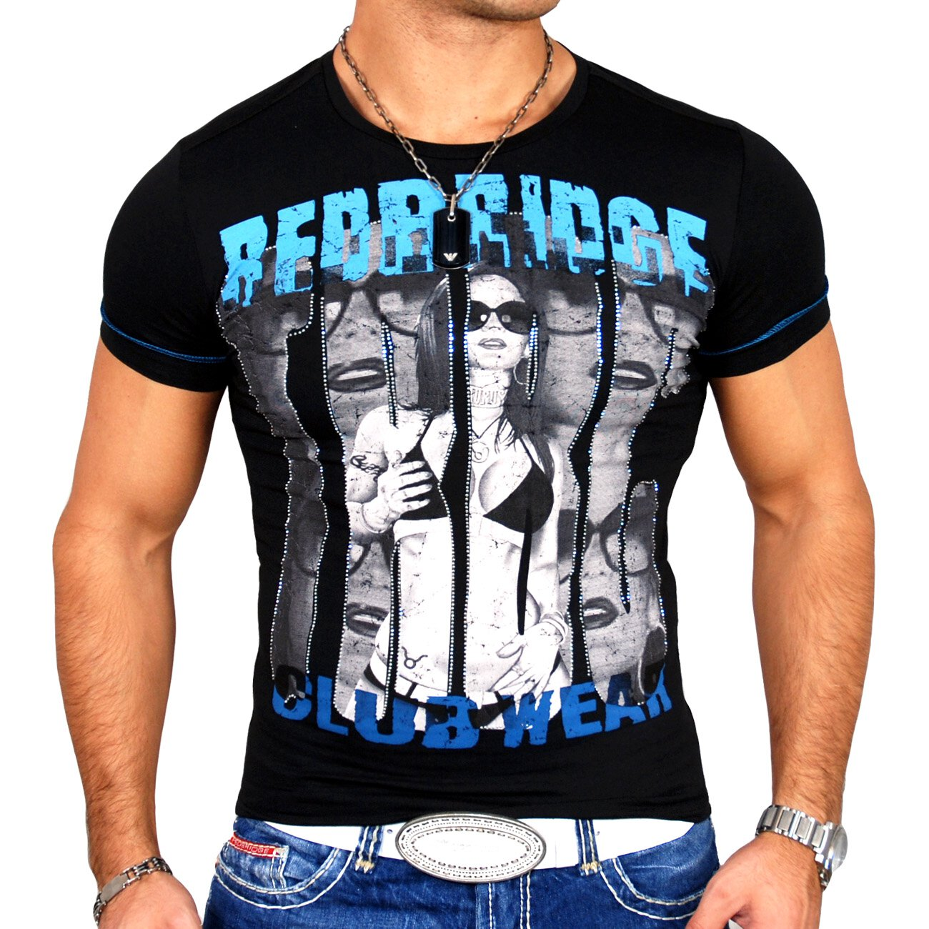 T shirt herren redbridge mit print 1464 g nstig kaufen for T shirt printing local area
