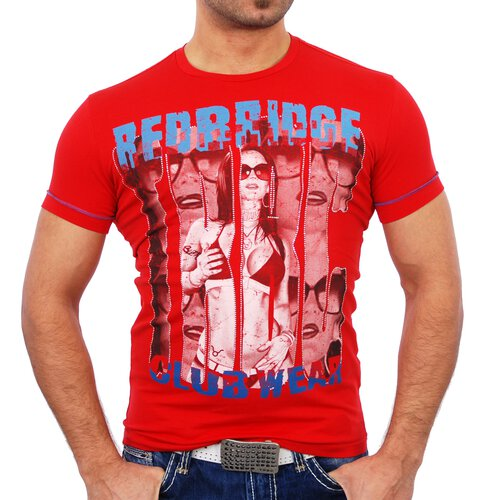 Redbridge Herren Party Clubwear Print T-Shirt RB-1464