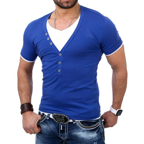 Redbridge Herren Wide V-Neck 2in1 T-Shirt RB-1614