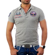 Free Side FS-1049 St.Barth Strick Polo Hemd Shirt grau