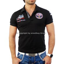 Free Side FS-1049 St.Barth Strick Polo Hemd Shirt Schwarz