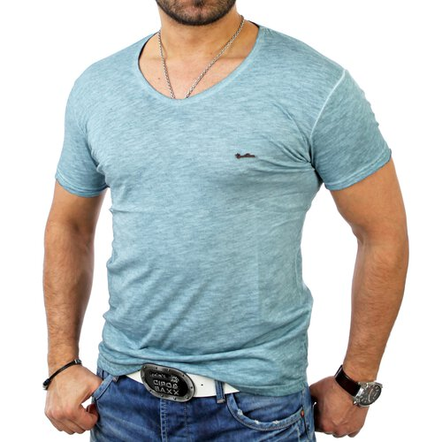 Cipo & Baxx Herren Wide Neck Basic T-Shirt C-5332
