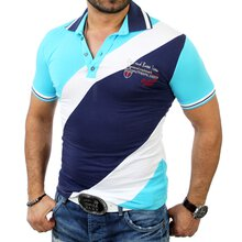 Cipo & Baxx Herren Party Club Tricolour Poloshirt C-5331