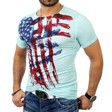 Cipo & Baxx Herren Brushed Flag Print T-Shirt C-5325