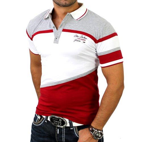 Rabattgutschein heißer verkauf billig verrückter Preis Cipo & Baxx Herren Polo Neck Classic Poloshirt C-5338