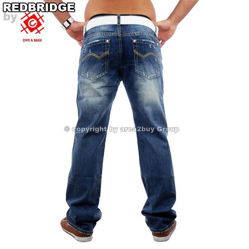 Redbridge RB-301 Destroyed Look Club Jeans, Blau