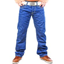 Redbridge RB-144 Dicke Naht Blue Jeans , Blau