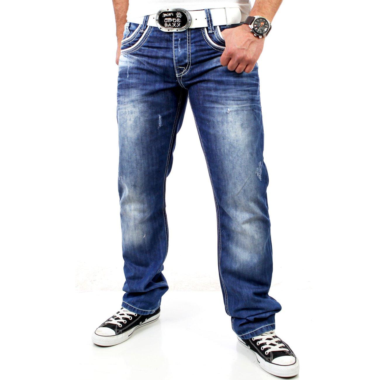 used look jeans herren cipo baxx blau c 1127 kaufen. Black Bedroom Furniture Sets. Home Design Ideas