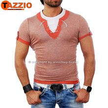 Tazzio TZ-3733 Layer Style used Look Club T-shirt rot
