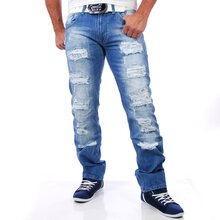 Rusty Neal RN-7453-1 destroyed blue Jeans blau