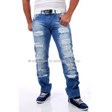 Rusty Neal RN-7453 destroyed light blue Jeans hell-blau