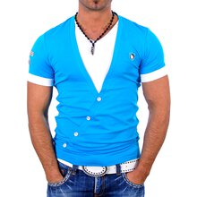 Kickdown Herren Wide V-Neck Layer Style T-Shirt K-1991
