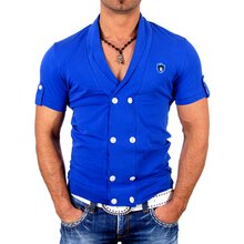 Kickdown Herren Basic Double Buttoned T-Shirt K-1994
