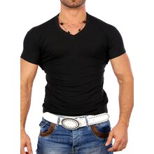 Kickdown Herren V-Neck Basic T-Shirt K-1378