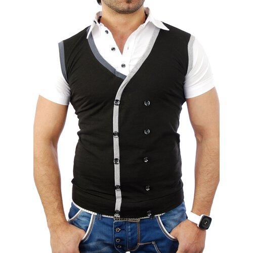 new arrival a0954 9c2cd Kickdown Herren Party Clubwear Weste Style T-Shirt K-5015
