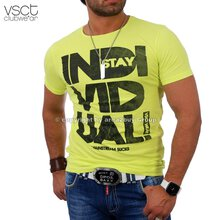 Vsct V-5640527 Individual Tee Party Club O-Neck T-shirt gelb