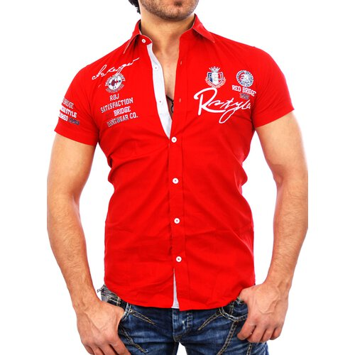Redbridge Herren Party Club Style Exklusiv Kurzarm Hemd RB-2122