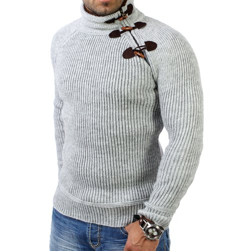 Reslad Herren Grobstrick Winter Pullover RS-3915