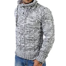 Reslad Herren Huge Collar Grobstrick Winter Pullover RS-3960