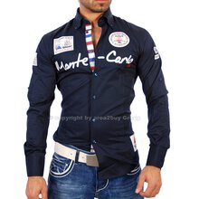 WAM Herren Designer VIP Club Party Langarm Hemd WM-555