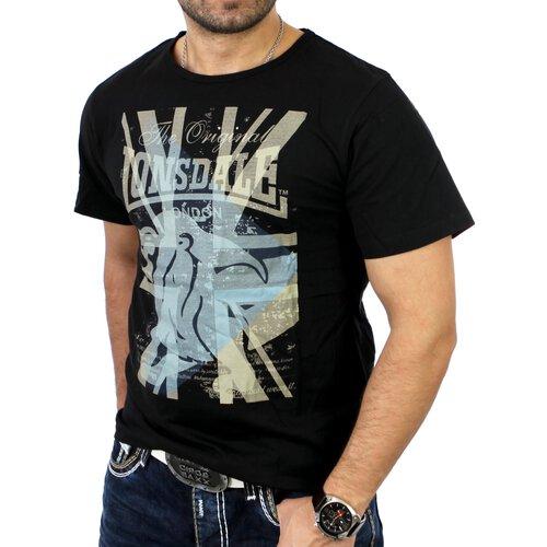 Lonsdale Herren KIAN Regular Fit T-Shirt LD-111140 Schwarz LD-111140