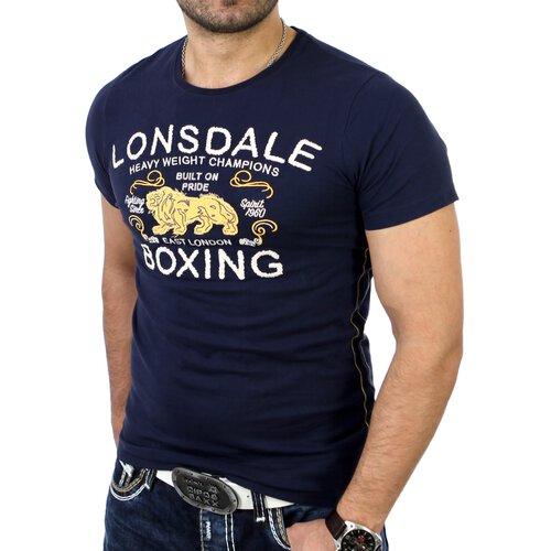 Lonsdale Herren RYAN Slim Fit T-Shirt LD-111142 Navyblau LD-111142
