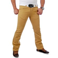 Tazzio Herren Vintage Colored Chino Hose TZ-5107 Curry