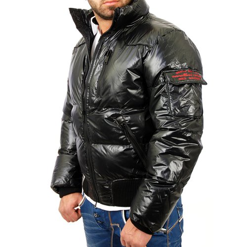 Redbridge R-5205 Winter Glanz Stepp Jacke, Schwarz