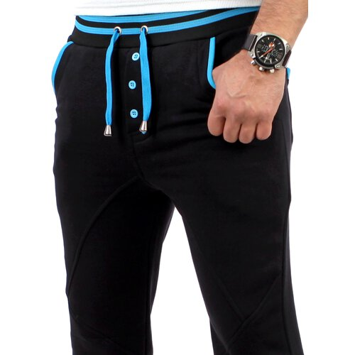Reslad Herren Buttoned Style Sweatpants Jogginghose RS-5150