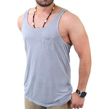VSCT Herren Loose Wide Neck Pocket Tank-Top V-5640996