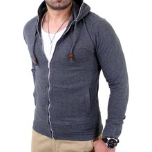 Reslad Herren Full Zipper Kapuzen Sweatjacke RS-1104