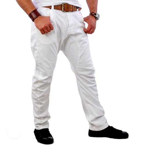 VSCT Herren Clubwear Low Drop Crotch Chino Hose V-5640339 Weiß