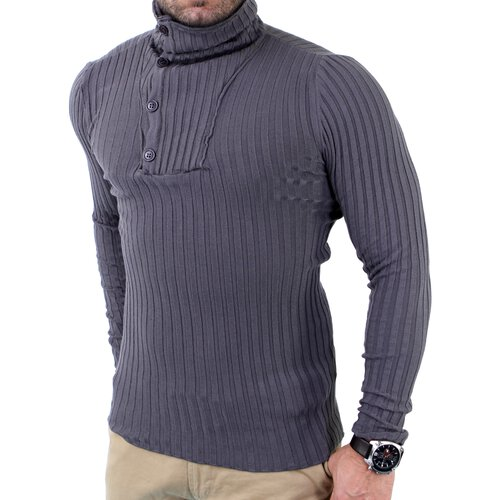 Tazzio Herren Turtleneck Strickpullover Winter Pullover TZ-3903