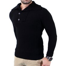 Tazzio Herren Turtleneck Strickpullover Winter Pullover...