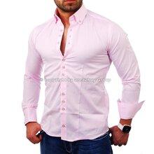 a22c5d55a577 Redbridge R-2117 designer club Style Herren Langarm Hemd rosa