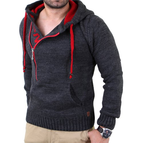 Reslad Herren Pouch Pocket Strickpullover Winter Pullover RS-3205